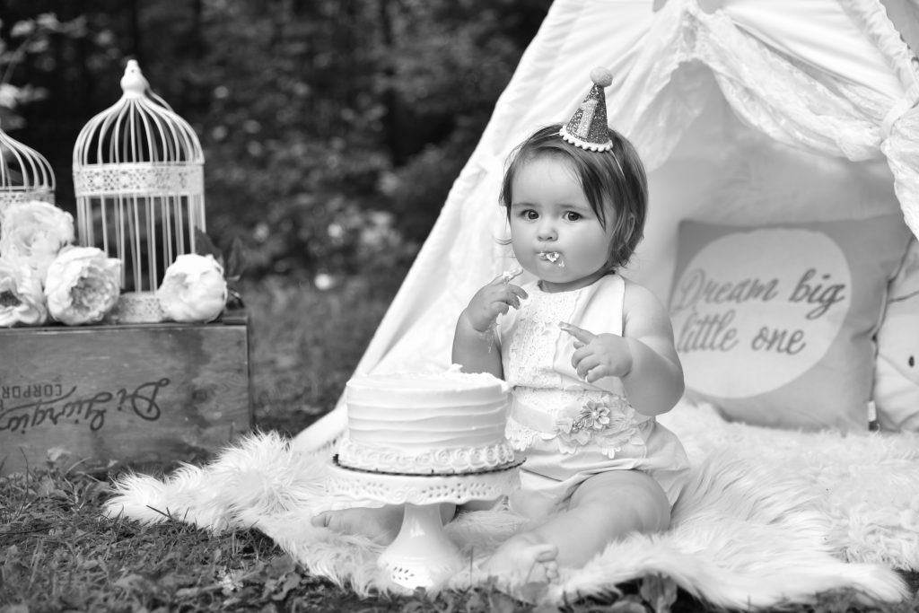 One Year Birthday Portrait 2 1 1024x683 - Cake Smash - 1st Birthday