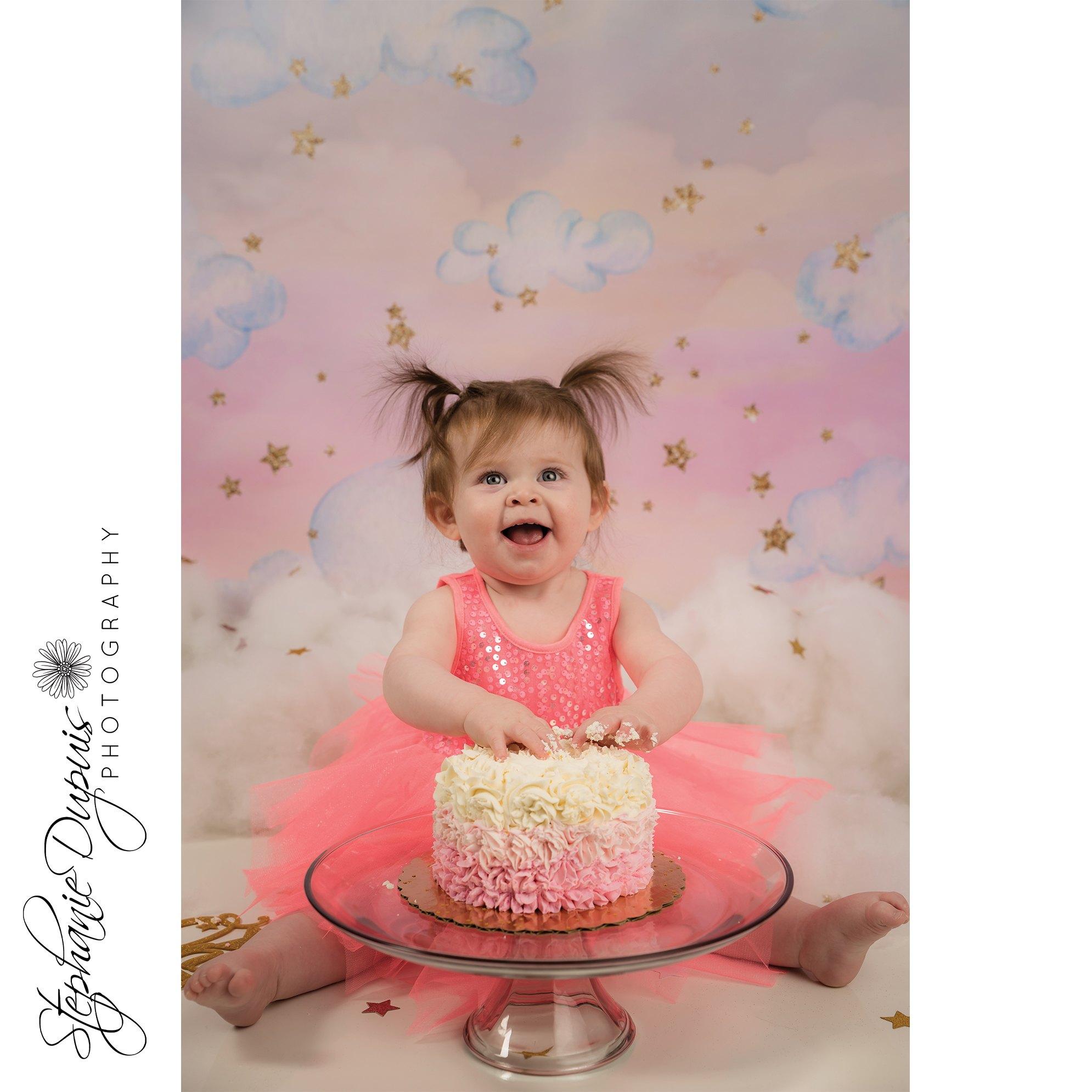 Mia Cake Smash 4 - Portfolio: Mia Cake Smash Session