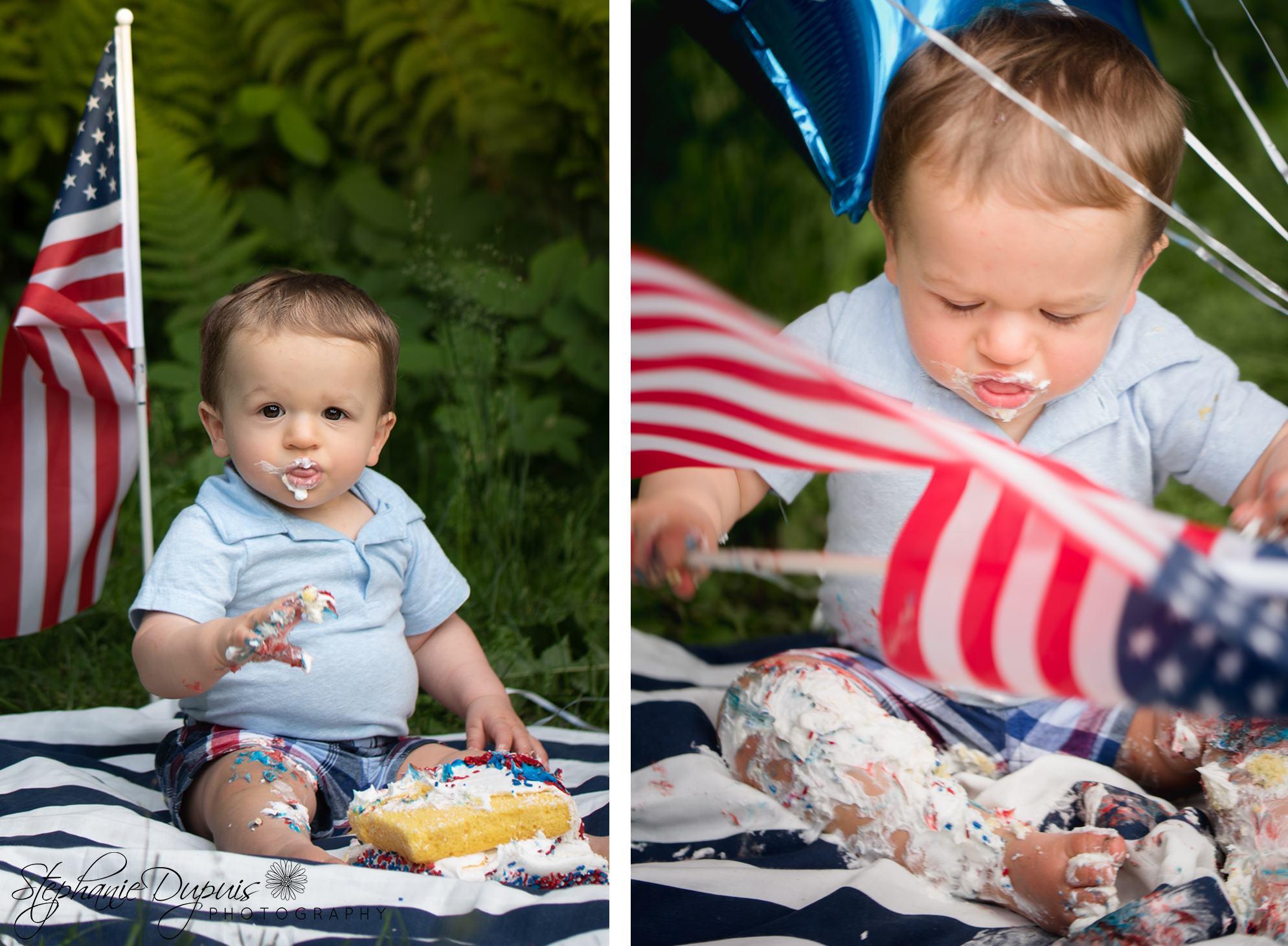 Luke Double Portrait 2 - Portfolio: Luke Cake Smash