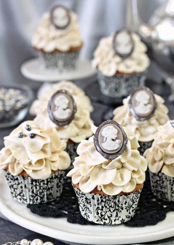 grey cupcakes 731x1024 - Wedding Cupcake Flavors by Season