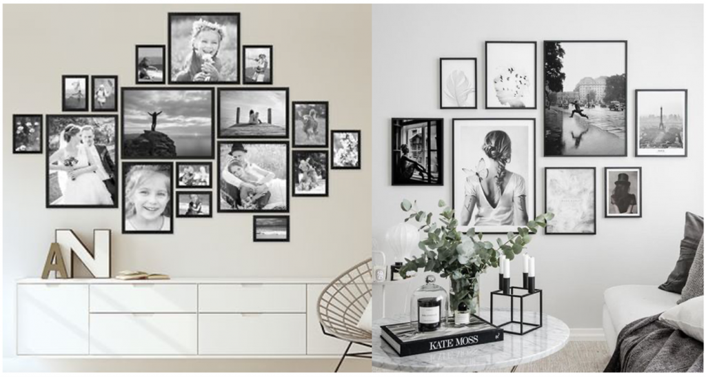 gallery wall 1024x547 - How to Display Photos in Your Home