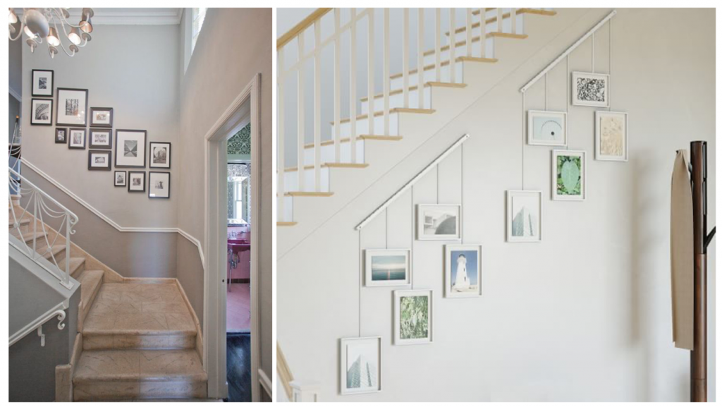 staircase 1024x577 - How to Display Photos in Your Home